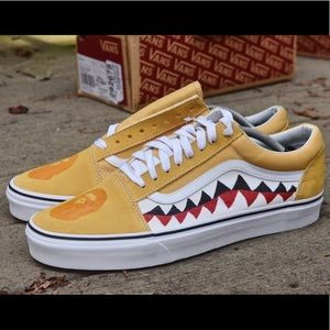 Bape Ochre Yellow Old Skool Vans 11.5